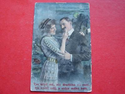 ŽENA Žena Dívka Muž Láska Zamilovaní Romantika MF 1914