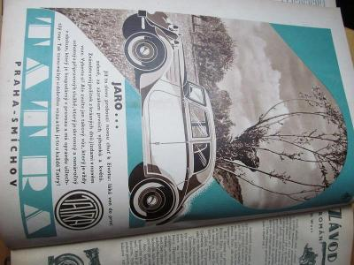 ,,AUTO,,SVÁZANÝ ČASOPIS 1935,AUTA,MOTORKY,REKLAMA.33,5x25x5.cm.