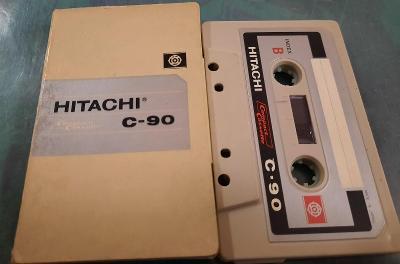 HITACHI C-90 JAPAN kazeta.  PAPER BOX. Rare.