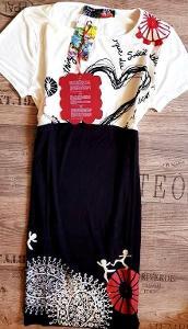 DESIGUAL VEST_Emily luxusní strečové šaty// 36 s(uni s-m) nové 1,-