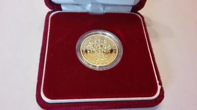 Zlatá pamětní medaile k 10.výročí české měny a vzniku České mincovny