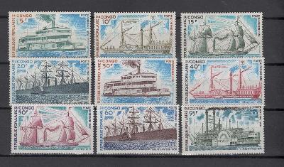 Kongo Brazaville 1976 ** lode komplet mi. 514-522