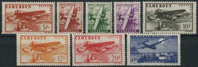 francúzsky Kamerun 1943/44 * letecké komplet yt. 22-29