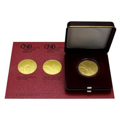Zlatá mince ČNB 5000,- Hrad VEVEŘÍ BK (Nejmenší náklad po Bezdězu)