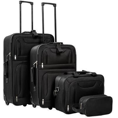 tectake 402152 cestovní kufry sada 4ks černá - černá