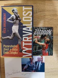 AUTOGRAMY&KNIHA EMIL A DANA ZÁTOPKOVI, M. ISSOVÁ V. NEUŽIL VYTRVALOST