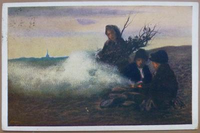 Rašek K. - Při ohníčku - 1915