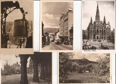 Liberec 5ks Reichenberg - radnice, Ještěd, hotel Imperial