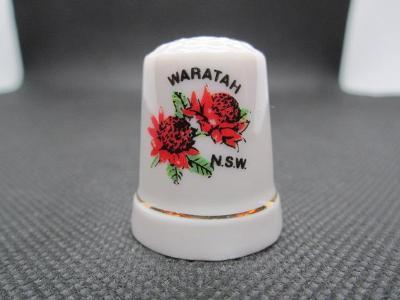Sběratelský náprstek Austrálie - Nový Jižní Wales - symbol - květina W