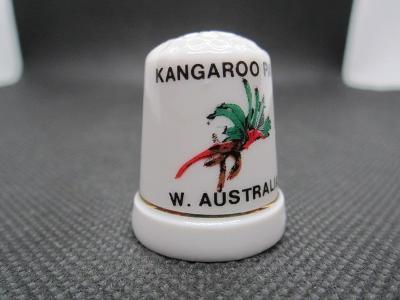 Sběratelský náprstek Západní Austrálie - symbol - květina Klokaní tlap