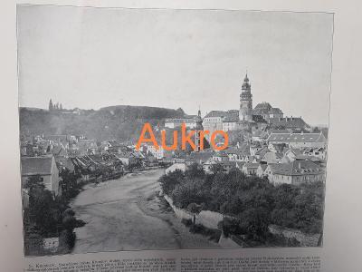 Český Krumlov a Praha 1898