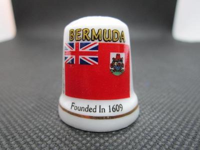 Sběratelský náprstek Bermudy (Bermudské ostrovy), vlajka, značený