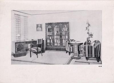 Plakát ukázky nábytkové tvorby, První republika
