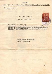 Dokument vysvědčení na odchodnou obchod.akademie