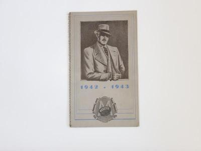 Katalog MODESTA 1942/1943, pánská móda