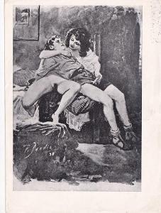 Erotický obrázek Paul Dandin, akt 1938