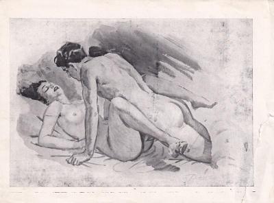 Erotický obrázek Paul Dandin, akt