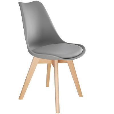 tectake 403812 2 jídelní židle friederike - šedá