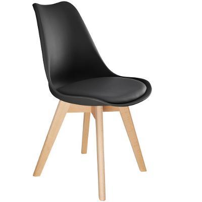 tectake 403814 4 jídelní židle friederike - černá