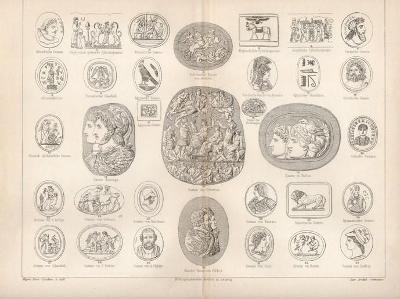 Litografie reliéfy