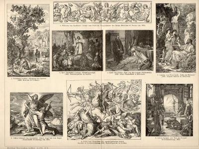 Litografie německé malířství, 15.,16.,19. stol.