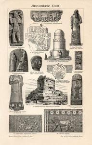 Litografie staroegyptské umění