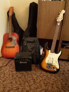 Fender Squier+combo Ibanez