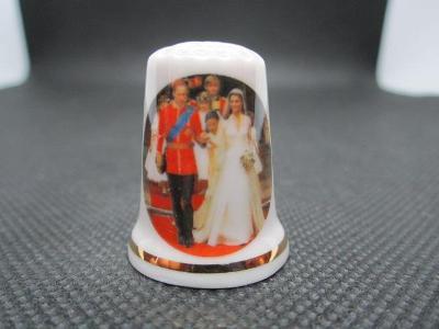 Sběratelský náprstek Princ William a Kate, svatební, 2011, Cottage Thi