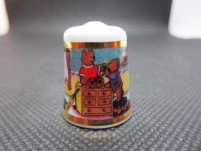 Sběratelský náprstek TCC Ironstone China England - Teddy Bear Nursery,