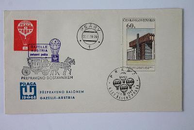 Československo , Gazelle Austria ,Palubní pošta , Psáry   (4a/1)