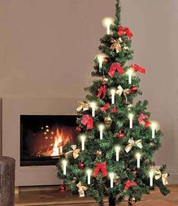 bezdrátová LED vánoční světélka s dálkovým ovladačem, nová