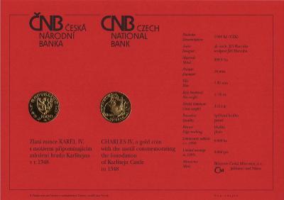 Certifikát Karel IV. 1000 Kč 1999 PROOF - od 1 Kč !!!