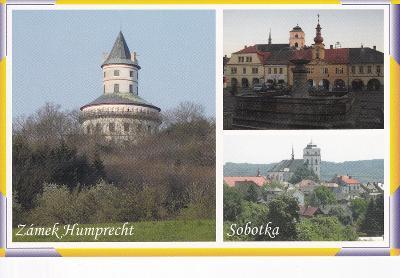 Český ráj-okr.Jičín-Sobotka-celk.pohled-náměstí-zámek Humprecht-VF