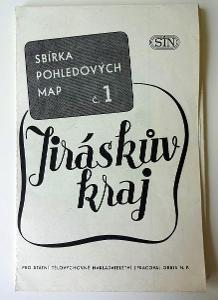 Mapa - Jiráskův kraj - 1954