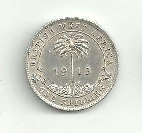 1 Schilling  Západní Afrika 1913 stříbro