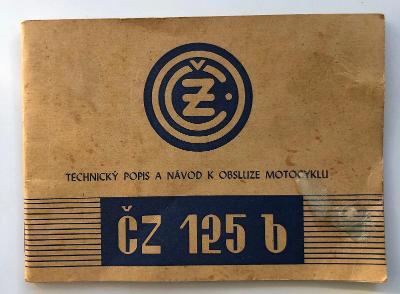 Návod k obsluze ČZ 125 b