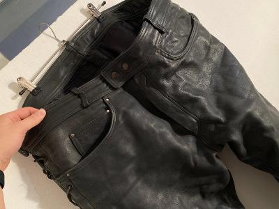 kožené kalhoty motorka