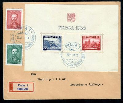 R dopis z výstavy PRAGA 1938