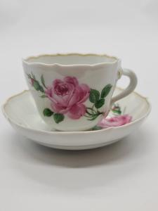 Míšeň, Meissen porcelánové šapo s podšálkem