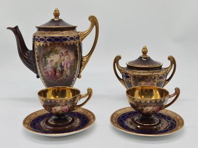 Konvolut 8 ks porcelánový malovaný servis Karlovy Vary  Pirkenhammer