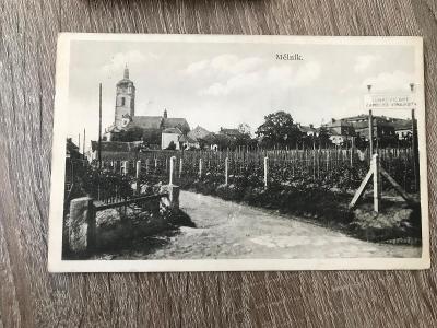 Pohled Mělník lobkovické zámecké vinařství - 1933