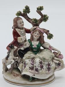 Porcelánová soška, figurka Scheib-Alsbach v Německu