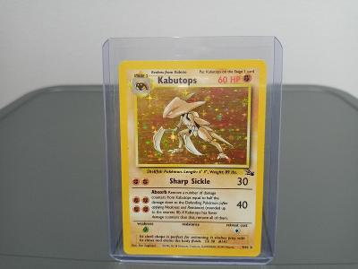 Pokémon Kabutops Holo Base 1999 FOSSIL ORIGINAL