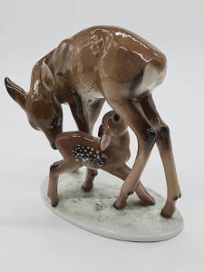 Porcelánová soška, figurka srnečci Rosenthal