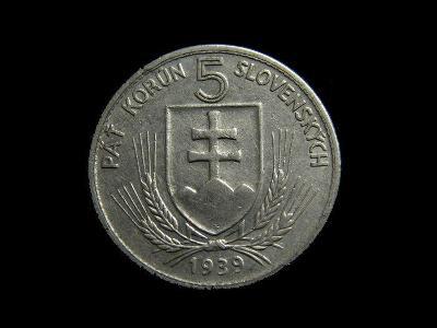 Slovensko - 5 Korun 1939