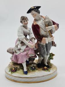 Porcelánová soška, figurka Volkstedt