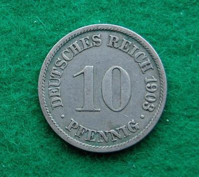 Německo - 10 pfennig 1903 A