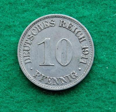 Německo - 10 pfennig 1911 A