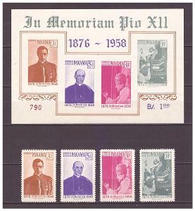 "Panama 1959 ""Pope Pius XII Commemoration"""