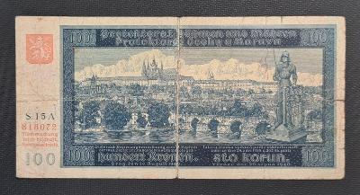 100 Koruna 1940, Vzácné První Vydání !!! Neperforovaná